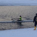 Winter training in single scull and double scull